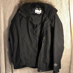 Columbia Black Omni-Tech Waterproof Jacket